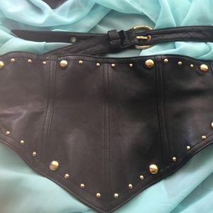 Vintage 1980s Issac Mizrahi Black Belt